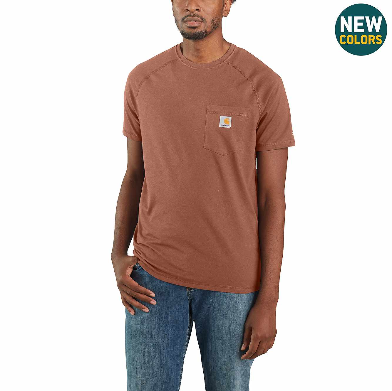 Picture of Carhartt Force® Cotton Delmont Short-Sleeve T-Shirt in Bronze