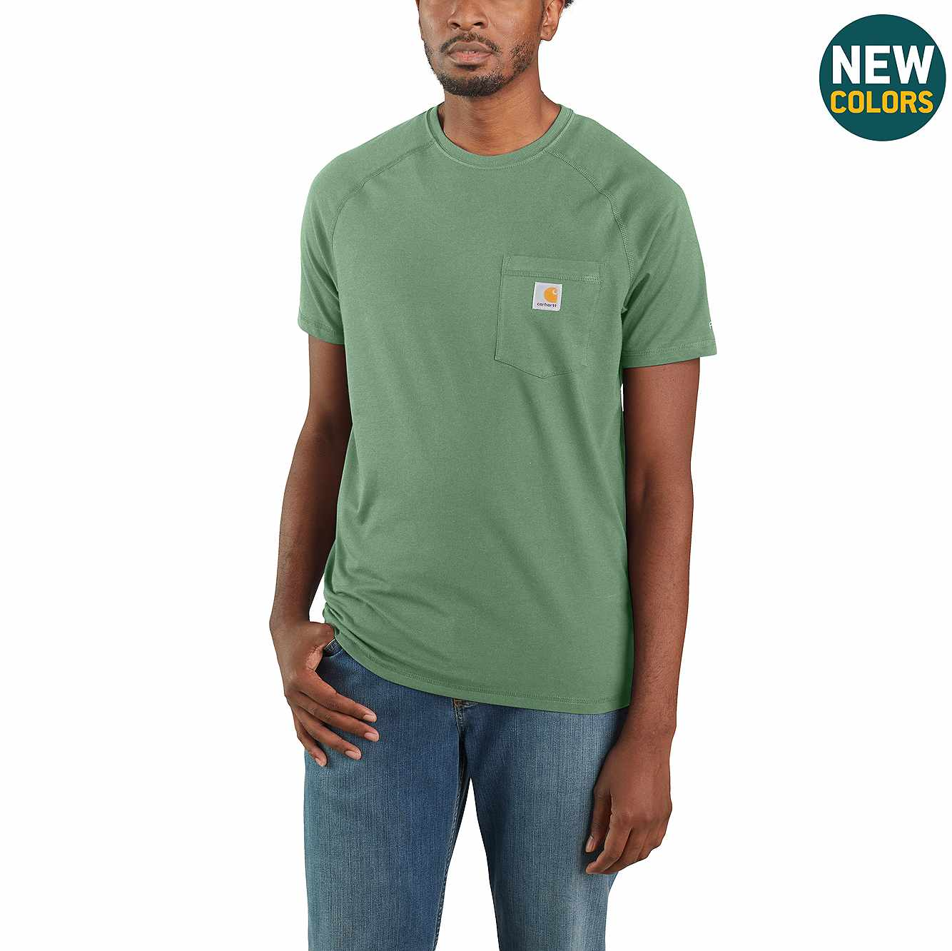 Picture of Carhartt Force® Cotton Delmont Short-Sleeve T-Shirt in Boreal