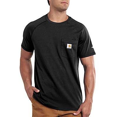 Carhartt Men's Black Force Relaxed Fit Midweight Short-Sleeve Pocket T-Shirt