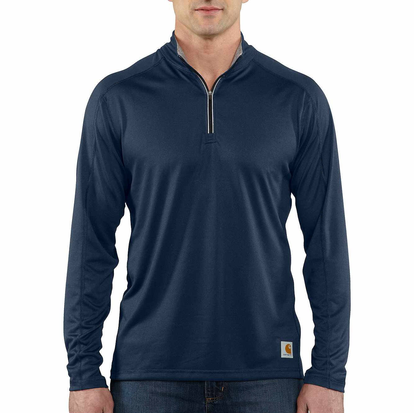 Picture of Carhartt Force® Long-Sleeve Quarter Zip T-Shirt in Navy