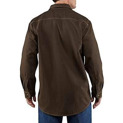 Carhartt Men's Moss Flame-Resistant Canvas Shirt Jac - back