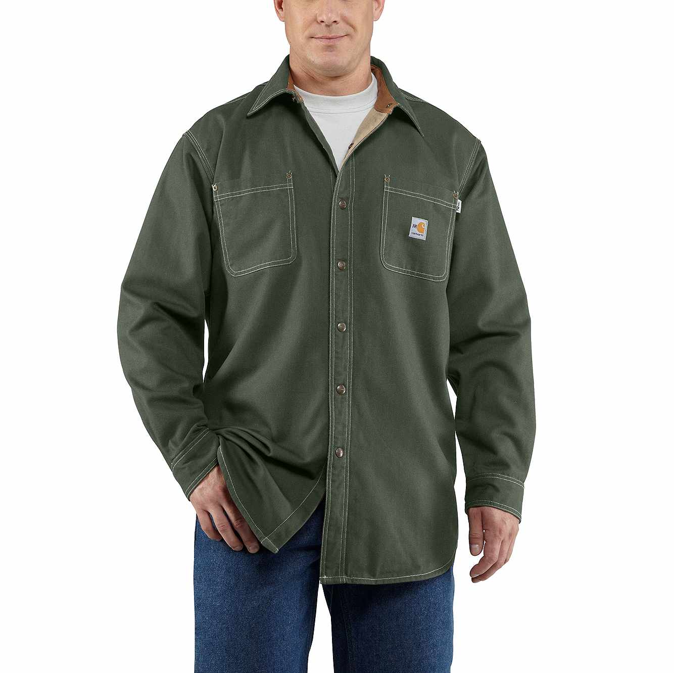 Picture of Flame-Resistant Canvas Shirt Jac in Moss