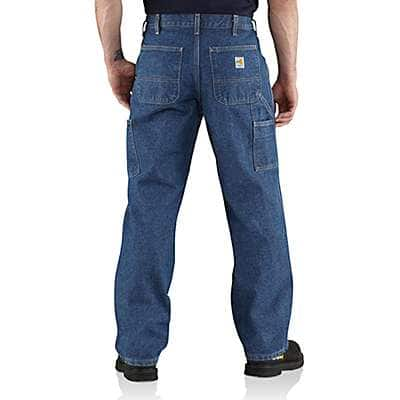 Carhartt Men's Midstone Flame-Resistant Utility Denim Dungaree Jean - back