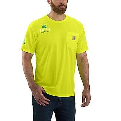 Carhartt  Brite Lime Carhartt Force® Color Enhanced Short-Sleeve T-Shirt - front