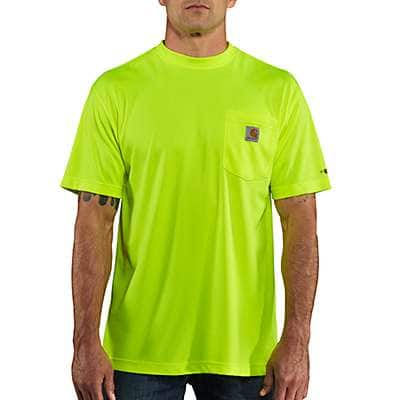 Carhartt Men's Brite Lime Carhartt Force® Color Enhanced Short-Sleeve T-Shirt - front