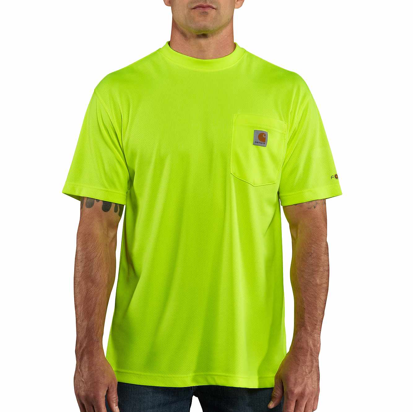 Picture of Carhartt Force® Color Enhanced Short-Sleeve T-Shirt in Brite Lime