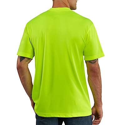 Carhartt Men's Brite Lime Carhartt Force® Color Enhanced Short-Sleeve T-Shirt - back