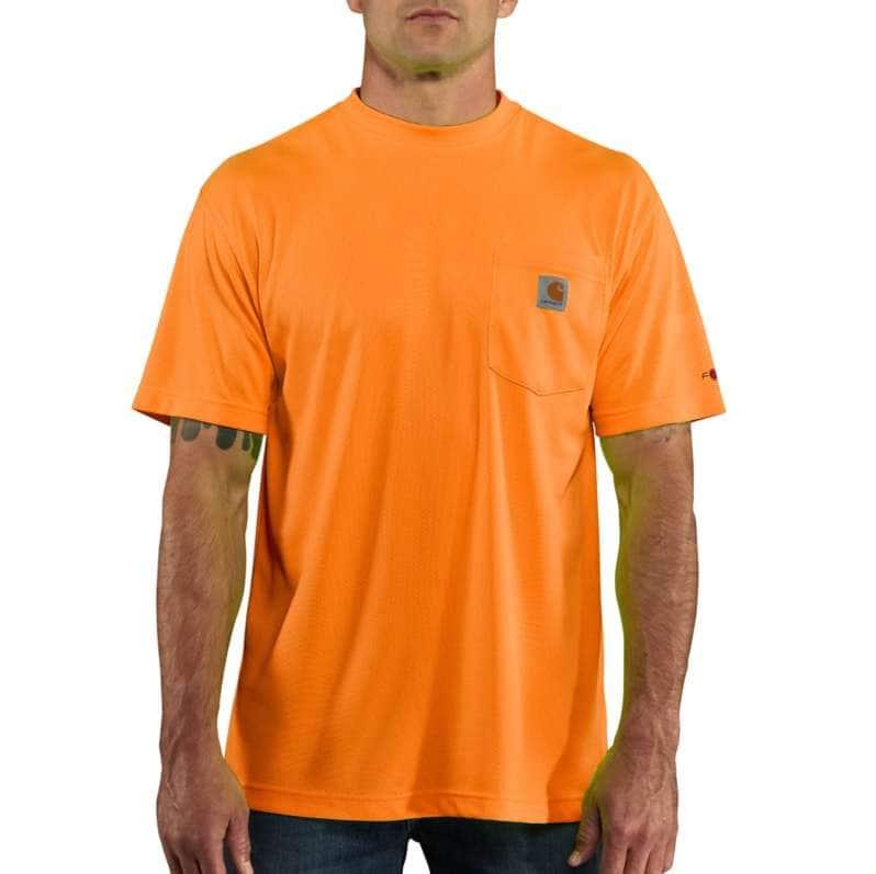 Carhartt  Brite Orange Force Color Enhanced Short-Sleeve T-Shirt