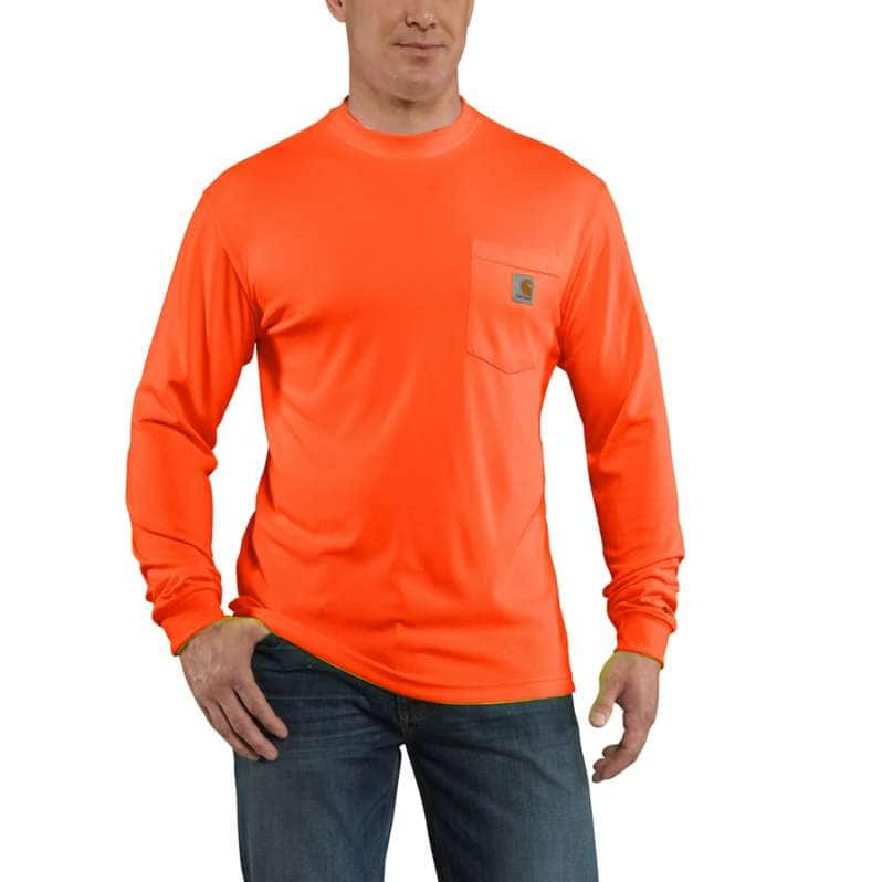 Carhartt  Brite Orange Force Color Enhanced Long-Sleeve T-Shirt