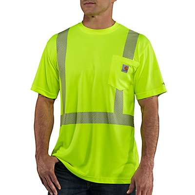 Carhartt Men's Brite Lime Carhartt Force® High-Visibility Short-Sleeve Class 2 T-Shirt - front