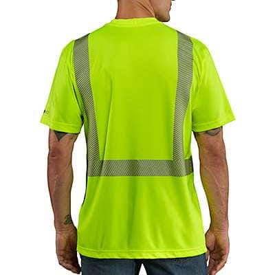 Carhartt Men's Brite Lime Carhartt Force® High-Visibility Short-Sleeve Class 2 T-Shirt - back