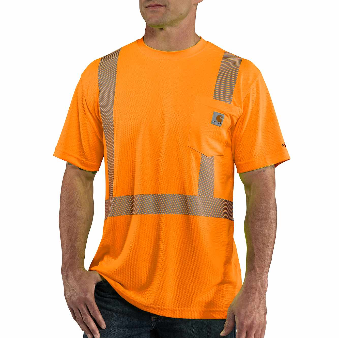 Picture of Carhartt Force® High-Visibility Short-Sleeve Class 2 T-Shirt in Brite Orange