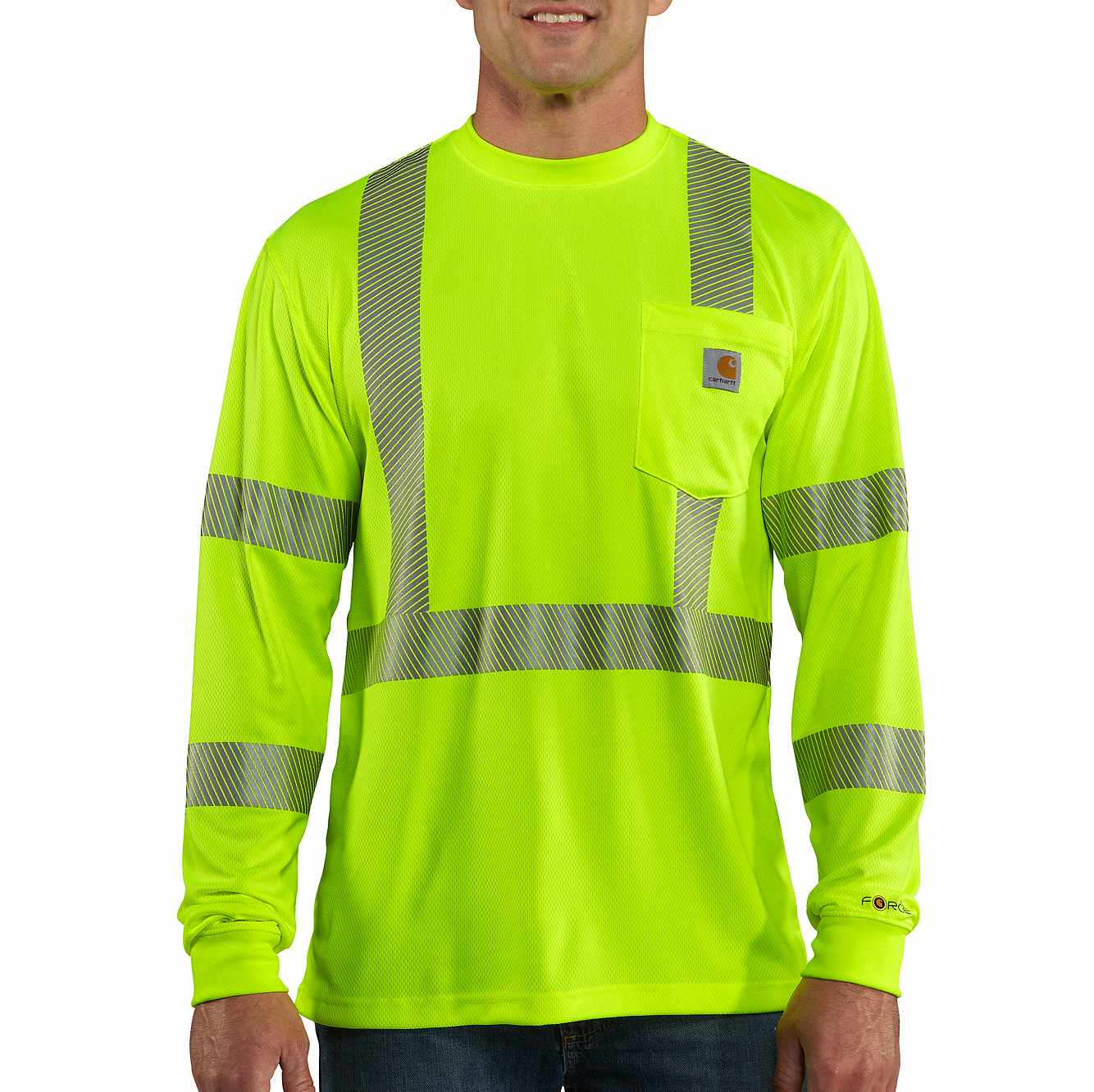Picture of Carhartt Force® High-Visibility Long-Sleeve Class 3 T-Shirt in Brite Lime