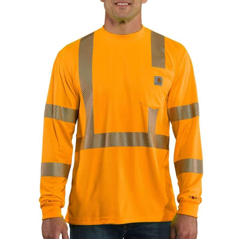 Carhartt  Brite Orange Force High-Visibility Long-Sleeve Class 3 T-Shirt