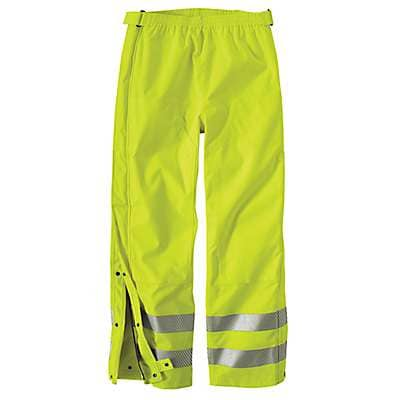 Carhartt Men's Brite Lime High-Visibility Class 3 Waterproof Pant - front