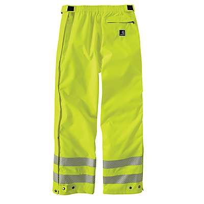Carhartt Men's Brite Lime High-Visibility Class 3 Waterproof Pant - back