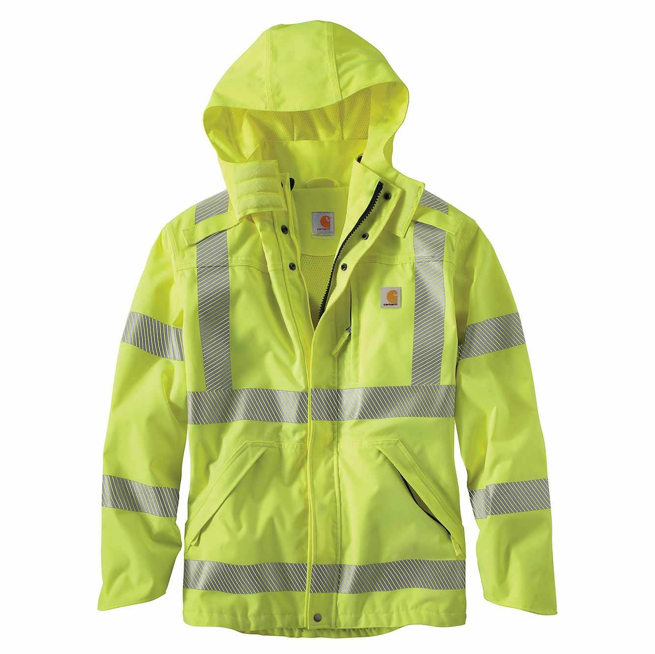 Picture of High-Visibility Class 3 Waterproof Jacket in Brite Lime