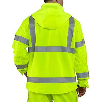 Carhartt Men's Brite Lime High-Visibility Class 3 Waterproof Jacket - back