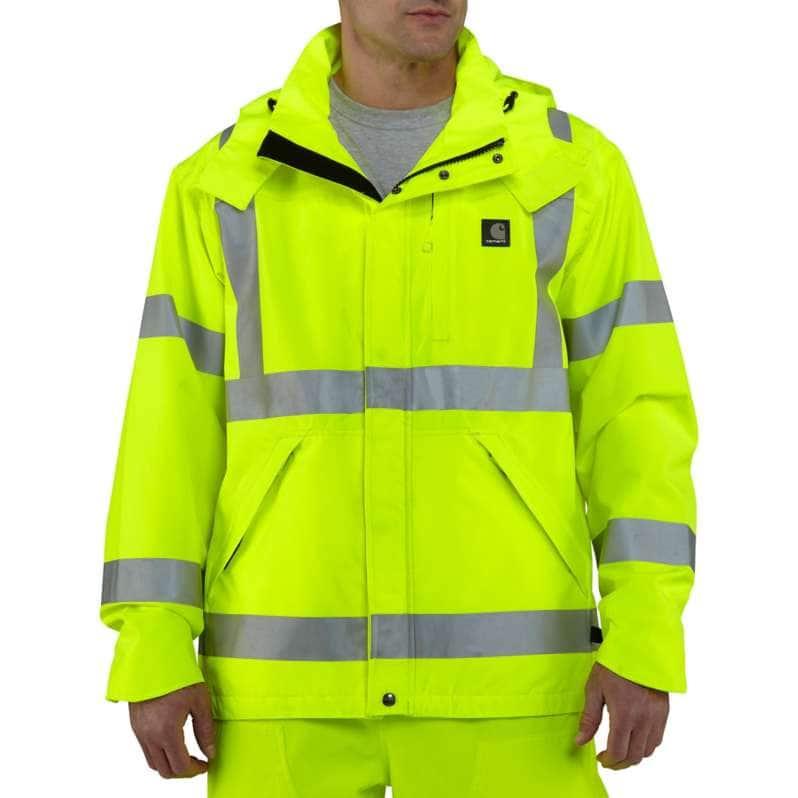 Carhartt  Brite Lime High-Visibility Class 3 Waterproof Jacket