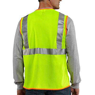 Carhartt Men's Brite Lime High-Visibility Class 2 Vest - back