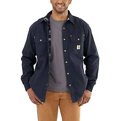Carhartt Men's Navy Weathered Canvas Shirt Jac - front