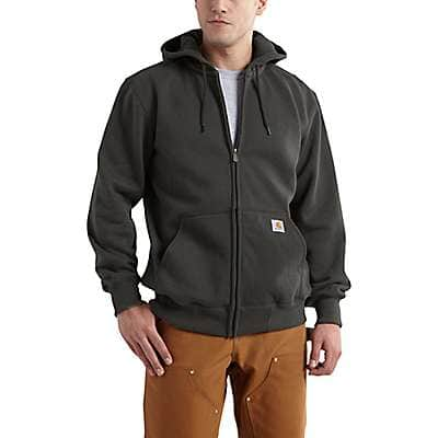 Carhartt Men's Peat Rain Defender® Paxton Heavyweight Hooded Zip-Front Sweatshirt - back