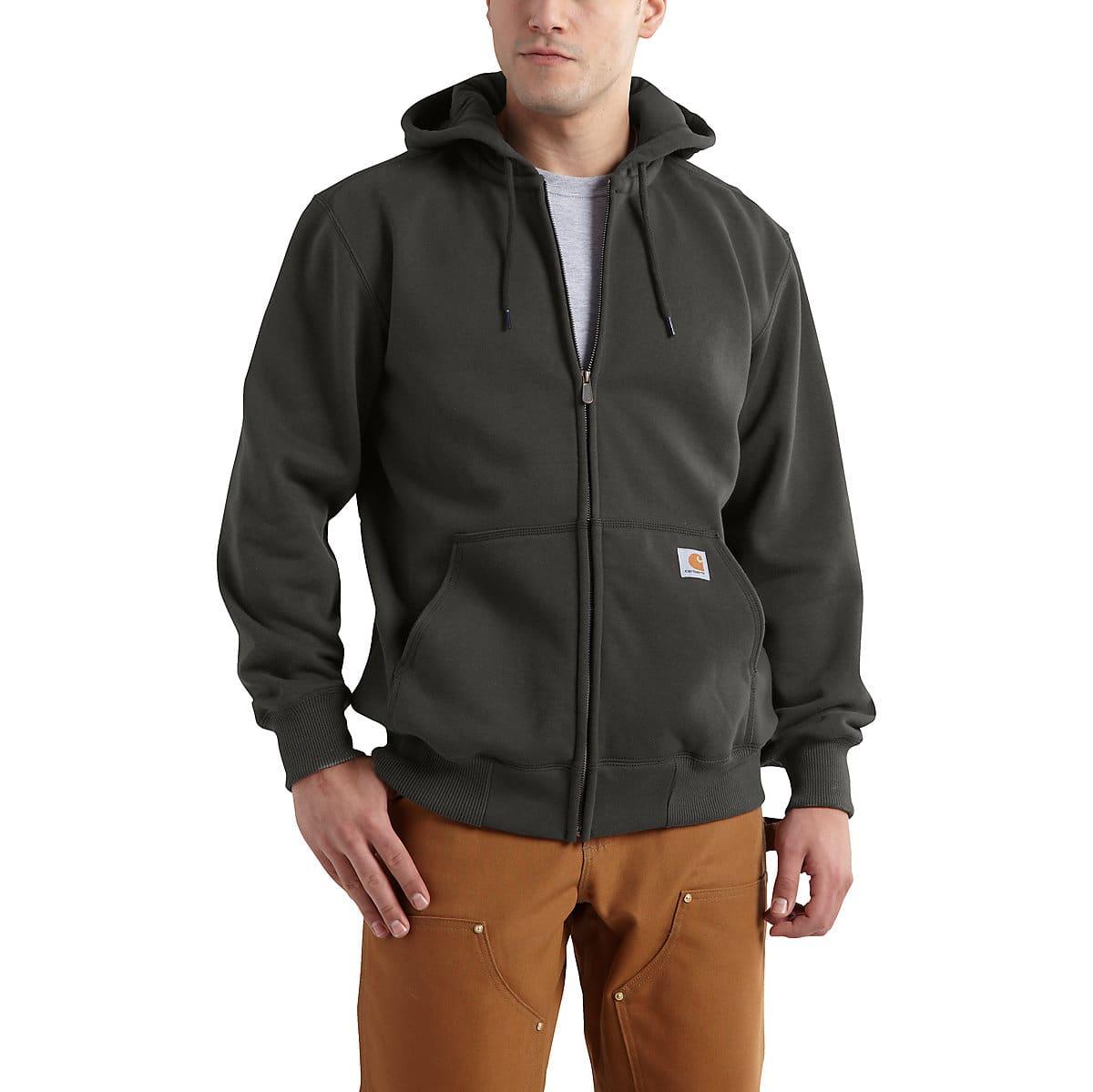 11b698d63 Men's Rain Defender® Paxton Heavyweight Hooded Zip-Front Sweatshirt    Carhartt