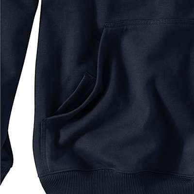 Carhartt Men's Peat Rain Defender® Paxton Heavyweight Hooded Zip-Front Sweatshirt - back