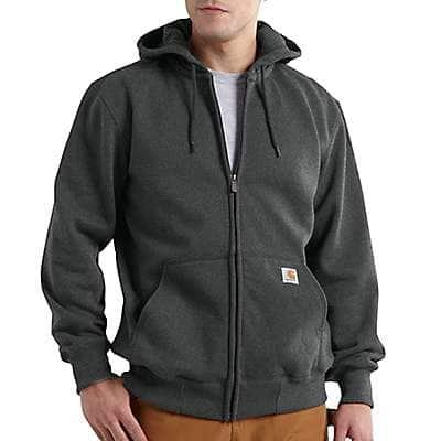 Carhartt Men's Carbon Heather Rain Defender® Loose Fit Heavyweight Full-Zip Sweatshirt