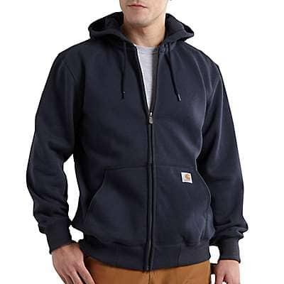 Carhartt Men's New Navy Rain Defender® Loose Fit Heavyweight Full-Zip Sweatshirt