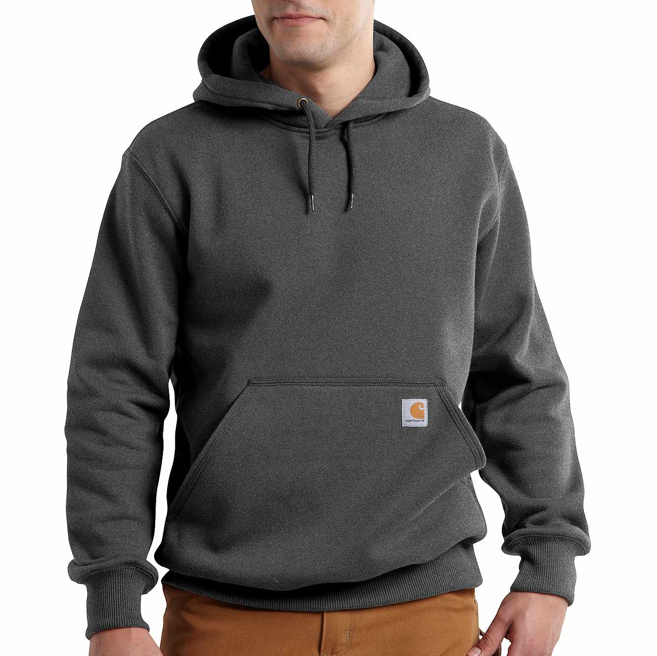 Picture of Rain Defender® Paxton Hooded Heavyweight Sweatshirt in Carbon Heather