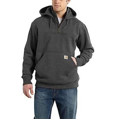 Carhartt Men's Carbon Heather Rain Defender® Loose Fit Heavyweight Quarter-Zip Sweatshirt