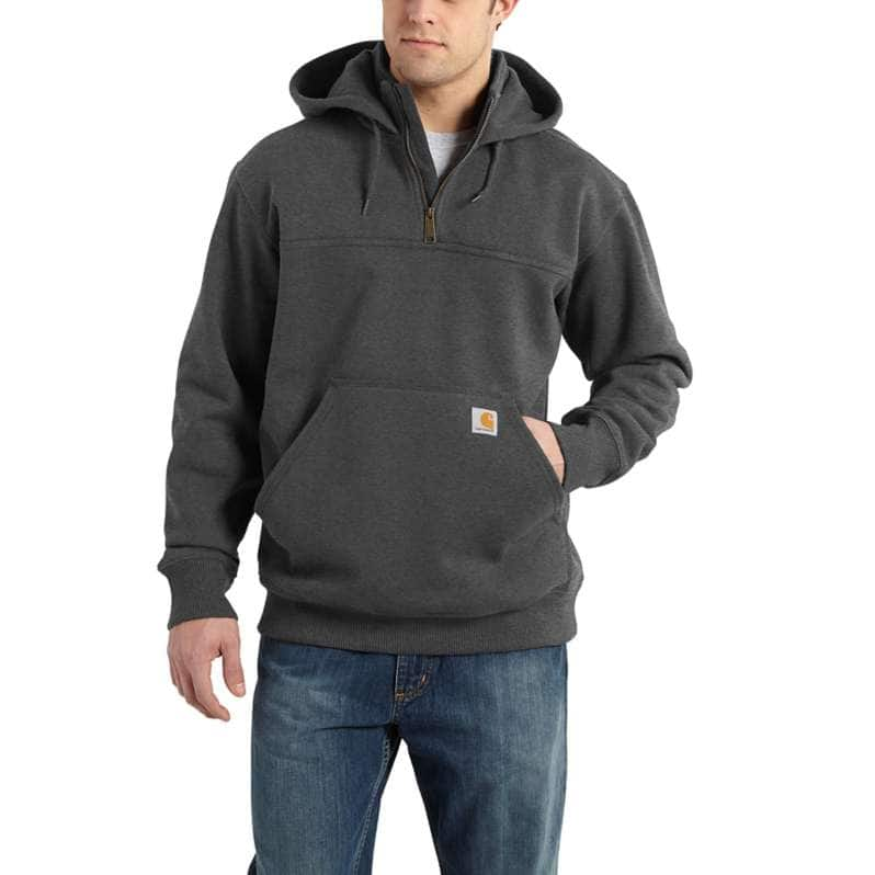 Carhartt  Carbon Heather Rain Defender® Loose Fit Heavyweight Quarter-Zip Sweatshirt