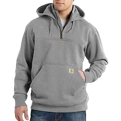 Carhartt Men's Heather Gray Rain Defender® Loose Fit Heavyweight Quarter-Zip Sweatshirt