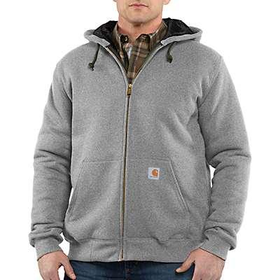 Carhartt Men's Heather Gray Rain Defender® 3-Season Midweight Sweatshirt - front