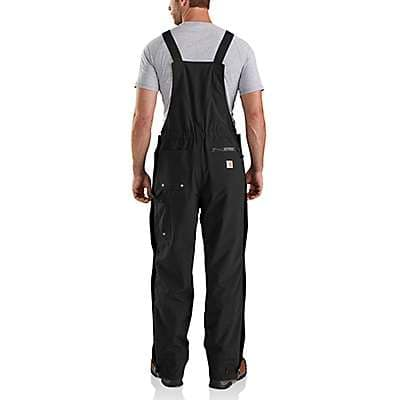 Carhartt Men's Black Shoreline Bib Overall - back