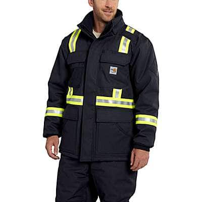 Carhartt Men's Dark Navy FR Extremes® Arctic Coat - front