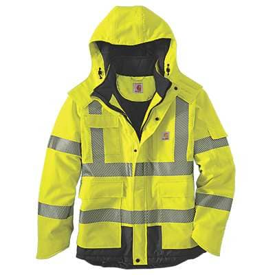 Carhartt Men's Brite Lime High-Visibility Class 3 Sherwood Jacket - front