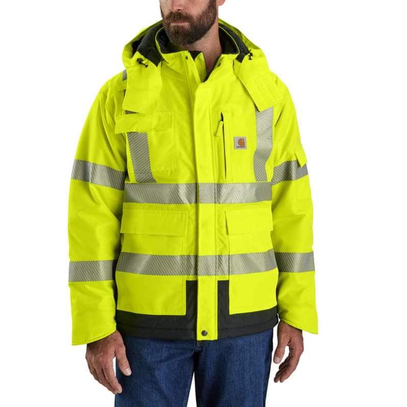 Carhartt  Brite Lime High-Visibility Waterproof Class 3 Sherwood Jacket