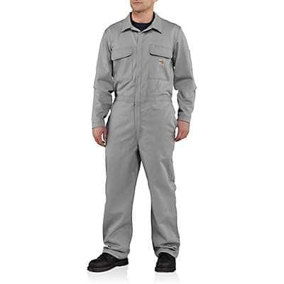 Carhartt  Gray Flame-Resistant Traditional Twill Coverall - front