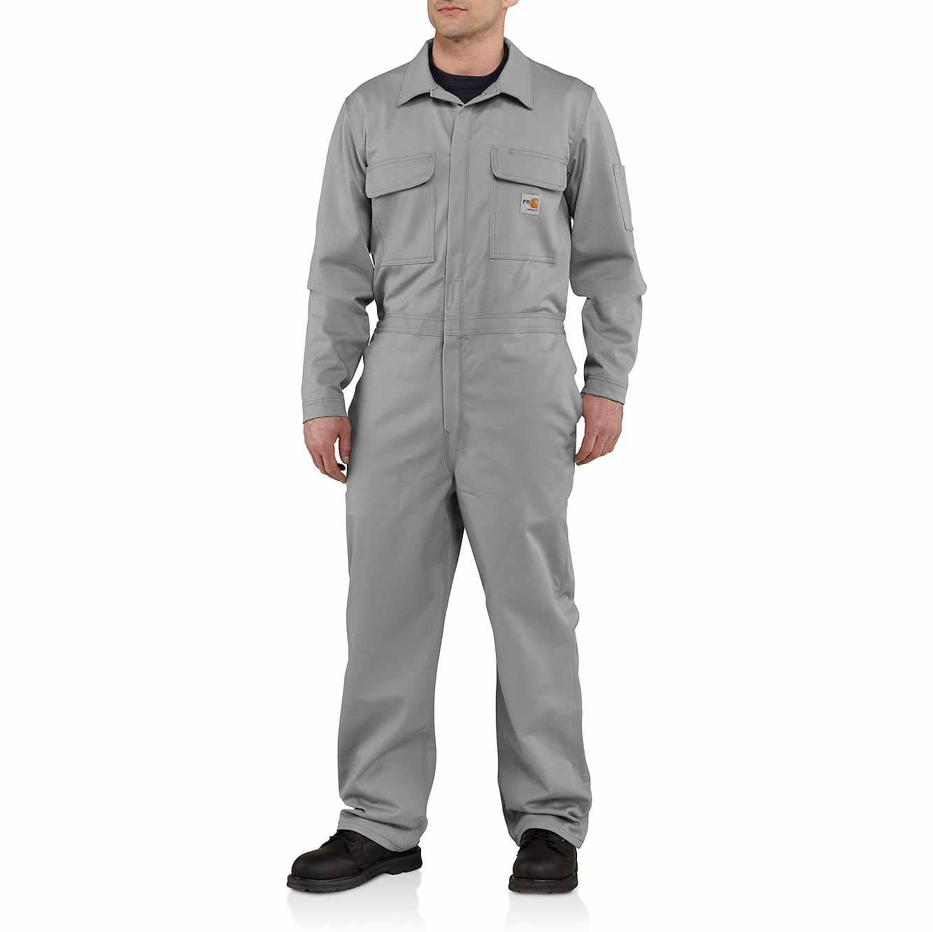 Picture of Flame-Resistant Traditional Twill Coverall in Gray