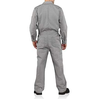 Carhartt Men's Gray Flame-Resistant Traditional Twill Coverall - back