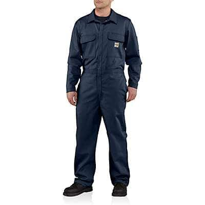 Carhartt Men's Gray Flame-Resistant Traditional Twill Coverall - front