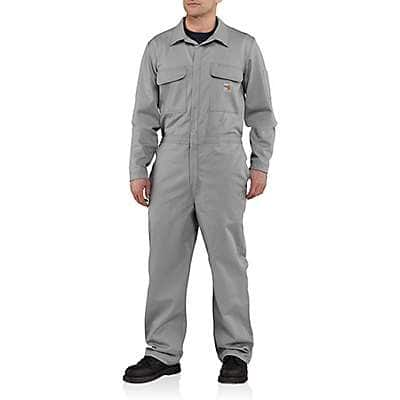Carhartt Men's Gray Flame-Resistant Traditional Twill Coverall