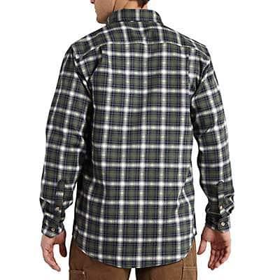Carhartt Men's Navy Flame-Resistant Classic Plaid Shirt - back