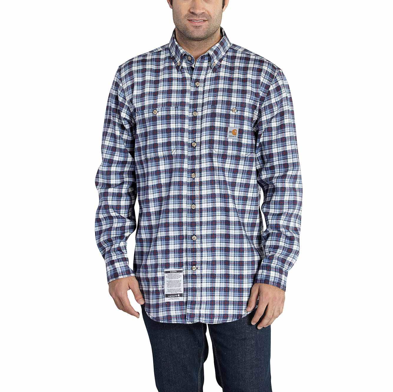 Picture of Flame-Resistant Classic Plaid Shirt in Navy