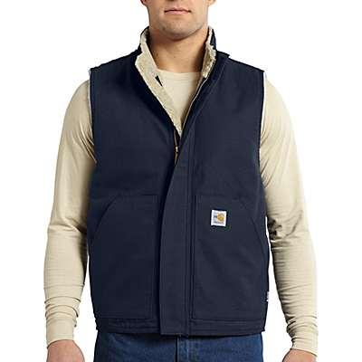 Carhartt Men's Dark Navy Flame-Resistant Mockneck Vest - front