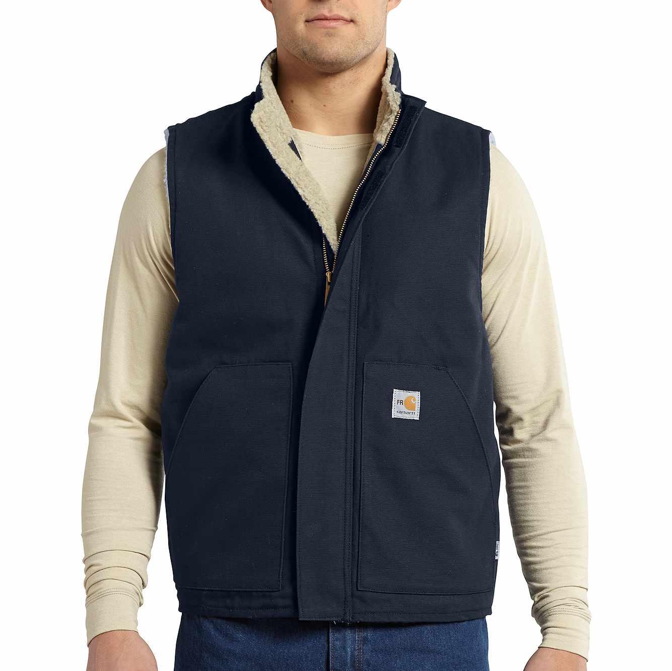 Picture of Flame-Resistant Mockneck Vest in Dark Navy