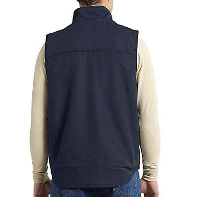 Carhartt Men's Dark Navy Flame-Resistant Mockneck Vest - back