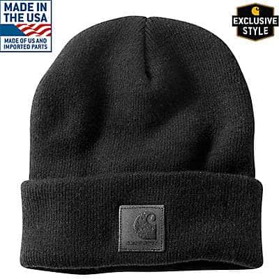 Carhartt Men's Black Black Label Watch Hat - front